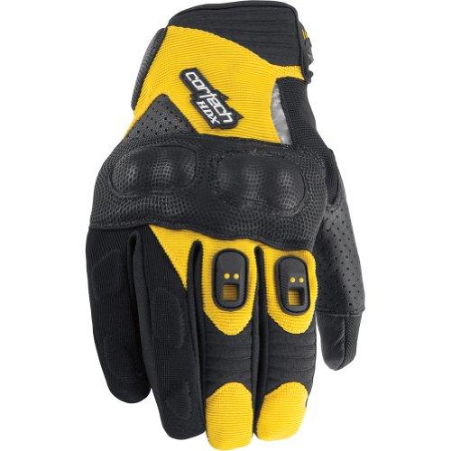 Cortech Hdx 2 Women's Textile Street Motorcycle Gloves - Black/yellow / Large