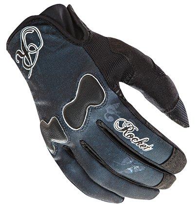 Joe Rocket Nation Womens Black Textile Motorcycle Gloves - Small