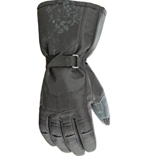 Joe Rocket Sub Zero Women's Textile Street Bike Racing Motorcycle Gloves - Black / Small