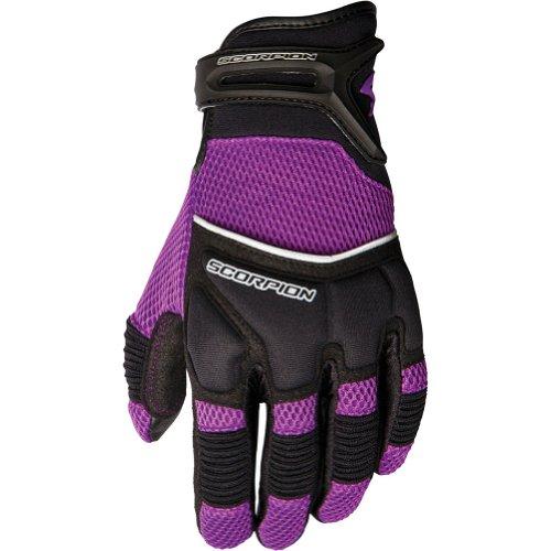 Scorpion Coolhand Ii Women's Leather/textile Vented Street Bike Racing Motorcycle Gloves - Purple / Medium