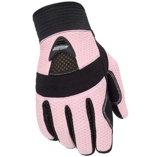 Tour Master Airflow Women's Textile On-road Motorcycle Gloves - Pink / Large