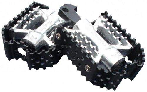 Dk Custom Products Triple Trap Custom Foot Pegs ~ Black & Silver Harley Motorcycle Foot Pegs Dk-btt-cfp