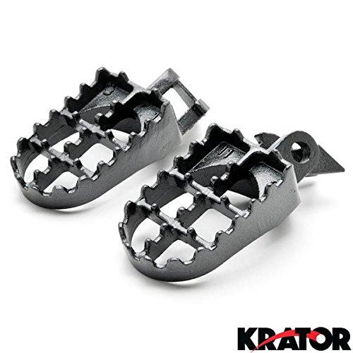 Krator Kawasaki Motocross MX Black Foot Pegs - KX125  KX250 1997-2001 Dirtbike Foot Rest Stomper Footpegs