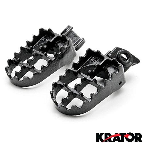 Krator MX Foot Pegs Motocross Dirt Bike Footrests L R For 2005-2013 KTM 250 SX-F