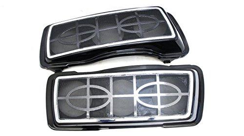 Mutazu Triple 525 Speaker Lids weith Metal Grills for Harley Touring 1994-2013