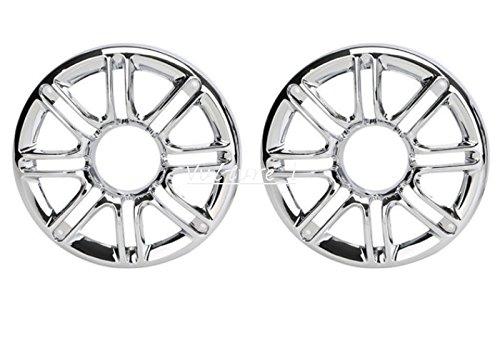Rear Speaker Grill Cover  Chrome 6 3D Round Rear Speaker Grill Cover For Harley Davidson Touring Glide