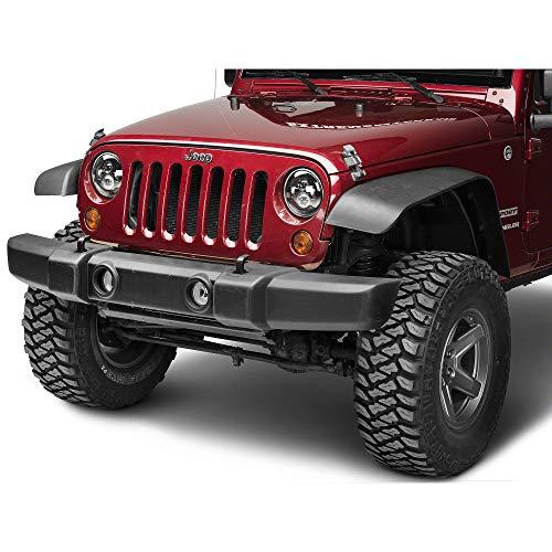 Axial LED Black Daymaker Headlights for Jeep Wrangler TJ JK 1997-2018