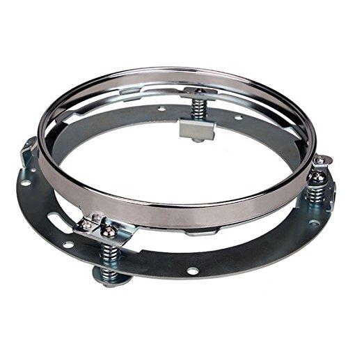 OCTANE LIGHTING 7 Motorcycle Chrome Headlight Extension Trim Ring Bracket For Harley Daymaker