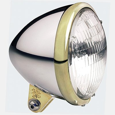 Headwinds 1-5100ABBA 5-34 Standard Bullet Headlight Aluminum with Brass Ring C01009111