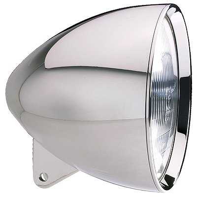 Headwinds 1-7500AA 7 Concours Bullet Headlight Polished Aluminum For Harley Davidson C01008786
