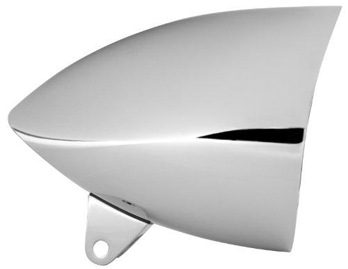 Adjure HB51211 5-34 Smooth Chrome Sunset Boulevard Style Sleek Motorcycle Headlight Bucket with Visor