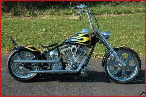 ACCESSORIESHD - CLASSIC COBRA NO VISOR Chrome Billet Headlight 575 x 7 Harley Chopper Bobber Custom
