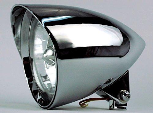 ACCESSORIESHD - Chrome Billet Headlight 575 x 9 Harley Chopper Bobber Custom