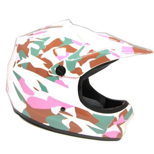 WOW Motocross BMX Youth ATV Dirt Bike Pink Camo MX Helmet