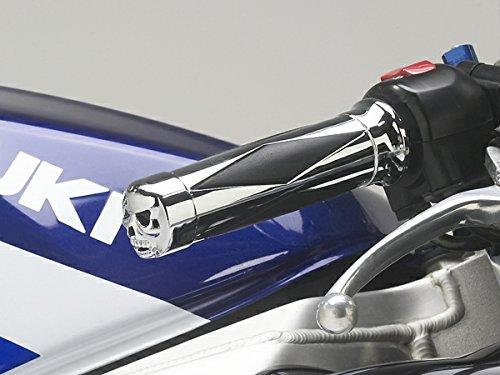 i5 Chrome Skull Hand Grips for Suzuki GSXR 600 750 1000 Hayabusa