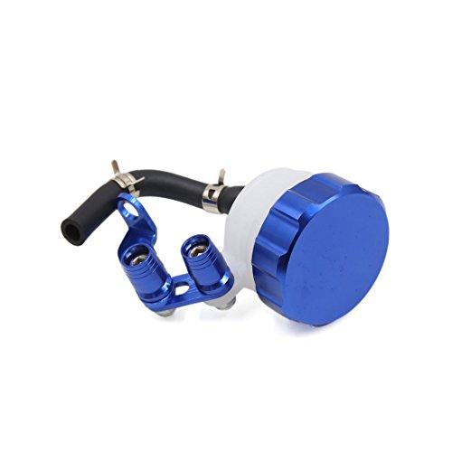 uxcell Motorcycle CNC Front Brake Clutch Master Cylinder Fluid Reservoir Oil Cup Blue