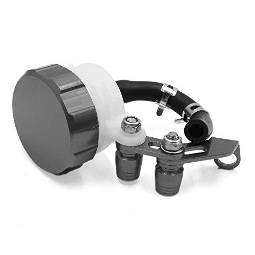 uxcell Titanium Tone CNC Universal Motorcycle Front Brake Clutch Reservoir Tank Fluid Oil Cup