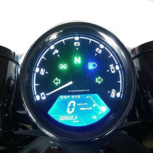 Samdo Universal DIY 12000 rpm LCD Digital Speedometer Odometer Tachometer 199 kmh for Honda Motorcycle MotorBike 124 Cylinders