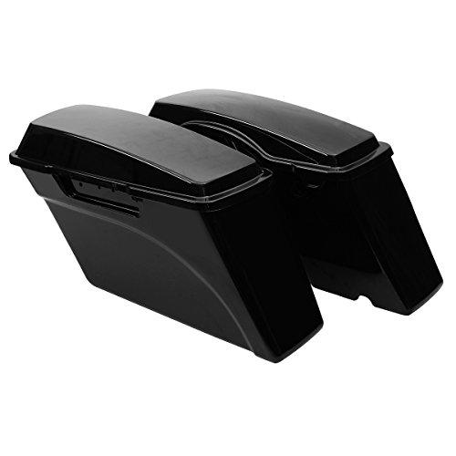 Xfmt Matte Black Hard Saddlebags Trunk W/ Lid For Harley Road King Street Glide 94-13