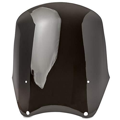 Krator Replacement Smoke Windscreen for Tall Fairing Windshield Club Style Kit for Harley-Davidson Dyna Super Glide T-Sport FXDXT FXR PN JBM-6009-CJBM-6009-S