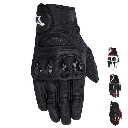 Alpinestars Celer Men's Leather Street Racing Motorcycle Gloves - Black / Large