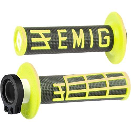 ODI Emig 4 Stroke Lock on Grips Set Throttle Tube Cam Black  Flourescent Yellow