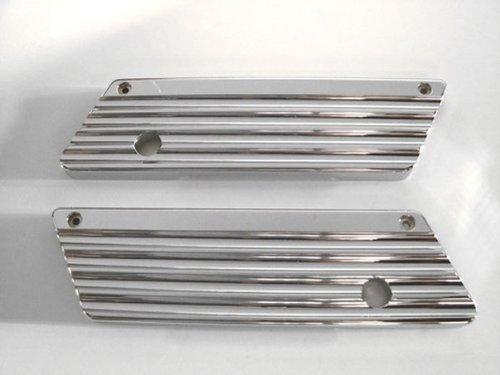 Joker Machine Saddlebag Latch Covers Finned Pair Chrome H-d Flhrtx Fltr 93-12