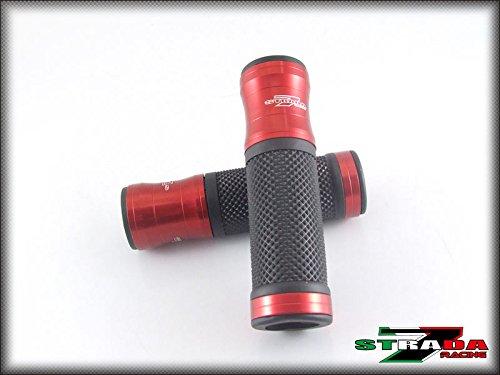 Honda GROM MSX 125 CBR250R CBR300R CBR600F Strada 7 Racing CNC Hand Grips Red