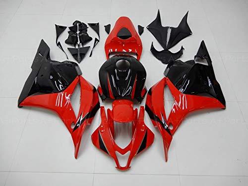 For 2009 2010 2011 2012 HONDA CBR600RR CBR 600RR Injection Glossy Black Red Fairings Kit ABS Plastic Aftermarket Bodywork