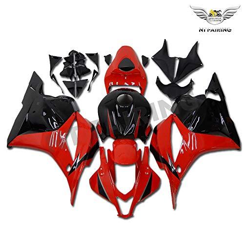 Plastic Red Black Bodywork Fairing Fit for Honda 2009 2010 2011 2012 CBR600RR CBR 600RR Injection Mold ABS New Aftermarket Bodyframe Kit Set 09 10 11 12