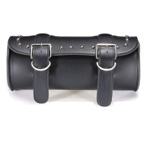 AUDEW Motorcycle Scooter Tool Bag Saddlebag Leather Storage