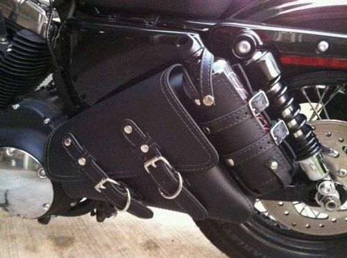 Motorcycle Solo Saddlebag Side Bag Swingarm Bag For Harley Davidson Sportster