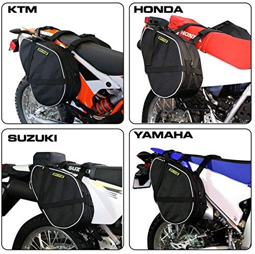 Nelson-Rigg RG-020 Black Dual Sport Motorcycle Saddlebag