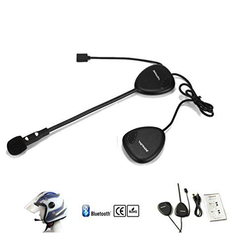 Amazingbuy - Vnetphone V1-2 New Bluetooth Interphone Motorbike Motorcycle Helmet Intercom Headset with Binaural speakers - for Helmet Use - Great for Riders Skiers