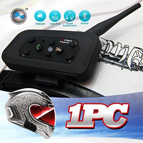 LEXIN 1x R6 Bluetooth stereo headset 6 riders bt interphone bluetooth Motorcycle Helmet Multi Intercom Headset