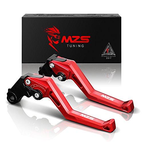 MZS Adjustment Brake Clutch Levers for Aprilia Dorsoduro 1200 2011-2016Capanord 1200Rally 2014-2017FalcoSL1000 2000-2004TuonoR 2003-2009RSV MillerR 1999-2003 Red
