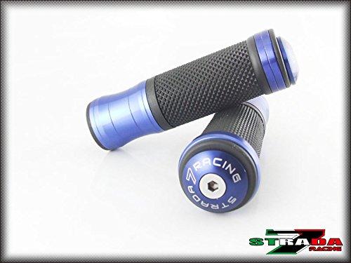 Strada 7 Racing CNC Aluminum Hand Grips And Bar Ends Combo Blue For Aprilia Falco  SL1000