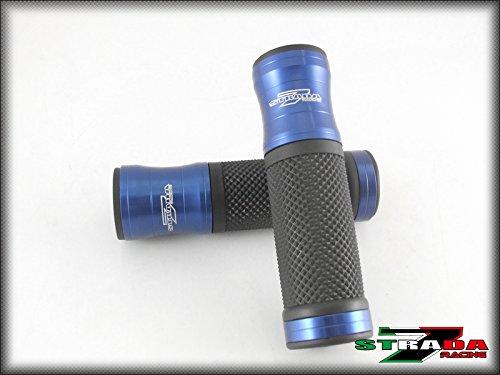 Strada 7 Racing CNC Aluminum Hand Grips Blue For Aprilia Falco  SL1000
