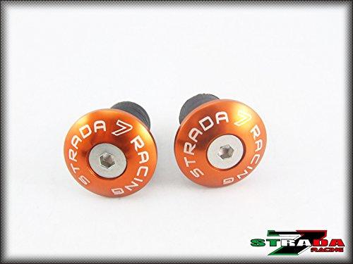 Strada 7 Racing CNC Handle Bar Ends Orange For Aprilia Falco  SL1000
