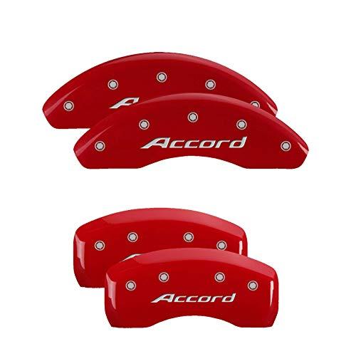 MGP Caliper Covers 20225SACCRD Red Powder Coat Brake Covers Set of 4