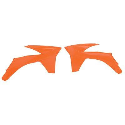 Polisport Radiator Scoops KTM Orange for KTM 350 EXC-F 2012-2013