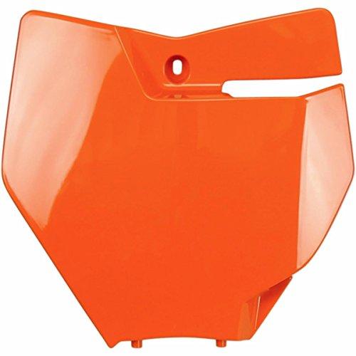 UFO Plastics Front Number Plate - KTM Orange KT04063127