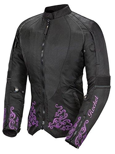Joe Rocket Heartbreaker 3.0 Women's Textile Motorcycle Jacket (black/purple, X-large)