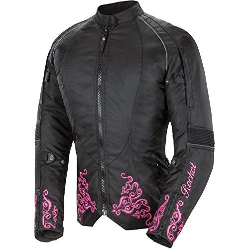 Joe Rocket Heartbreaker 3.0 Women's Textile Street Motorcycle Jacket - Black/pink / Small