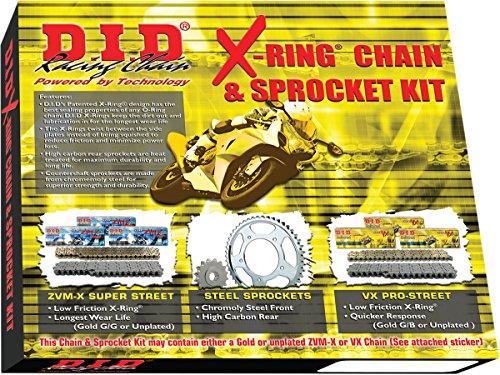 DID X-Ring Chain Sprocket Kit Kawasaki EX250 Ninja 250R 2008-12 DKK-013