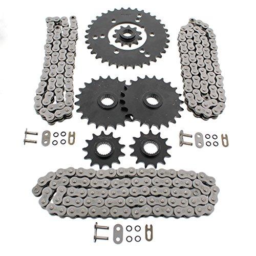 Polaris Xplorer 400 4x4 O Ring Chains Complete Sprocket Set