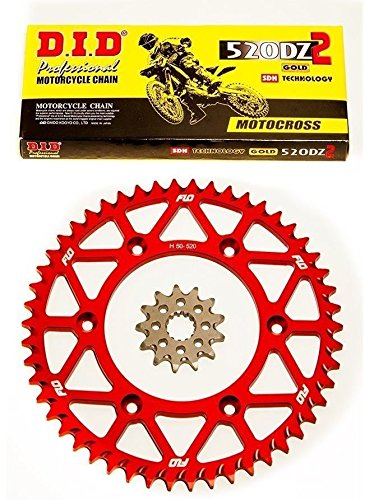 DID Gold Motocross Chain RED Sprocket Combo Kit 4913T CRF250 CR125 CRF250R