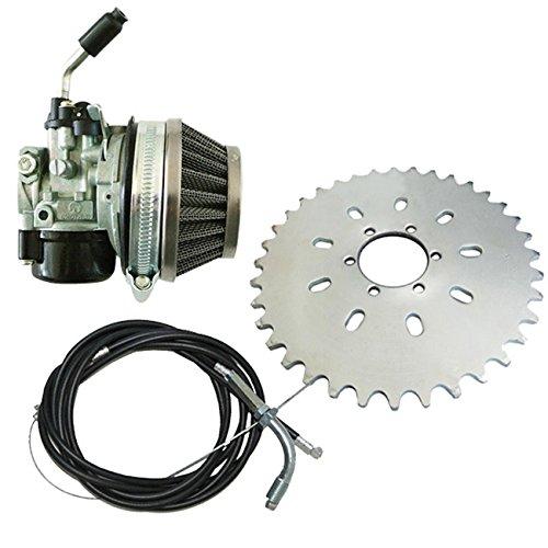 Silver 2 stroke 49cc To 80cc Engine Bicycle Motor Sprocket Racin Carb Kit