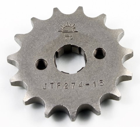JT Sprockets Steel Front Sprocket - 15T  Sprocket Teeth 15 Color Natural Sprocket Size 428 Sprocket Position Front Material Steel JTF27415