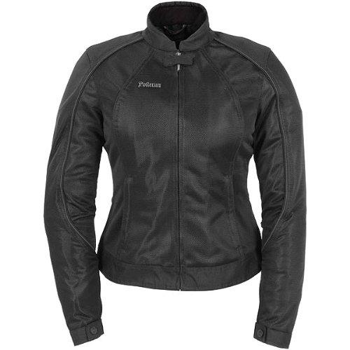 Pokerun Wild Annie Women's Textile Touring Motorcycle Jacket - Black / Large